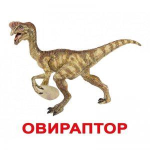 """Карточки Домана """"Динозавры"""" на рус."""