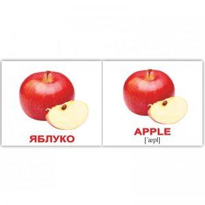 """Мини-карточки Домана """"Фрукты/Fruit"""" на укр/англ."""