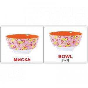 """Мини-карточки Домана """"Посуда/Kitchenware"""" на укр/англ."""