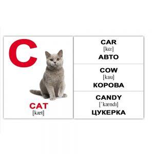 "Міні-картки Домана ""Alphabet/Алфавіт"" англ./укр."