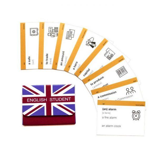 Карточки для изучения английского языка, уровень Intermediate B1.1 (рус/англ), English Student
