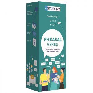 Карточки для изучения английского языка Phrasal Verbs, English Student